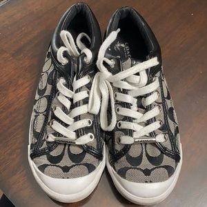 Coach black and white sneakers Sz 6.5